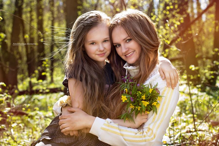 показуха мать и дочка